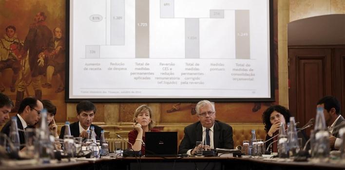 Maria Luís Albuquerque, a ministra das Finanças, no Parlamento