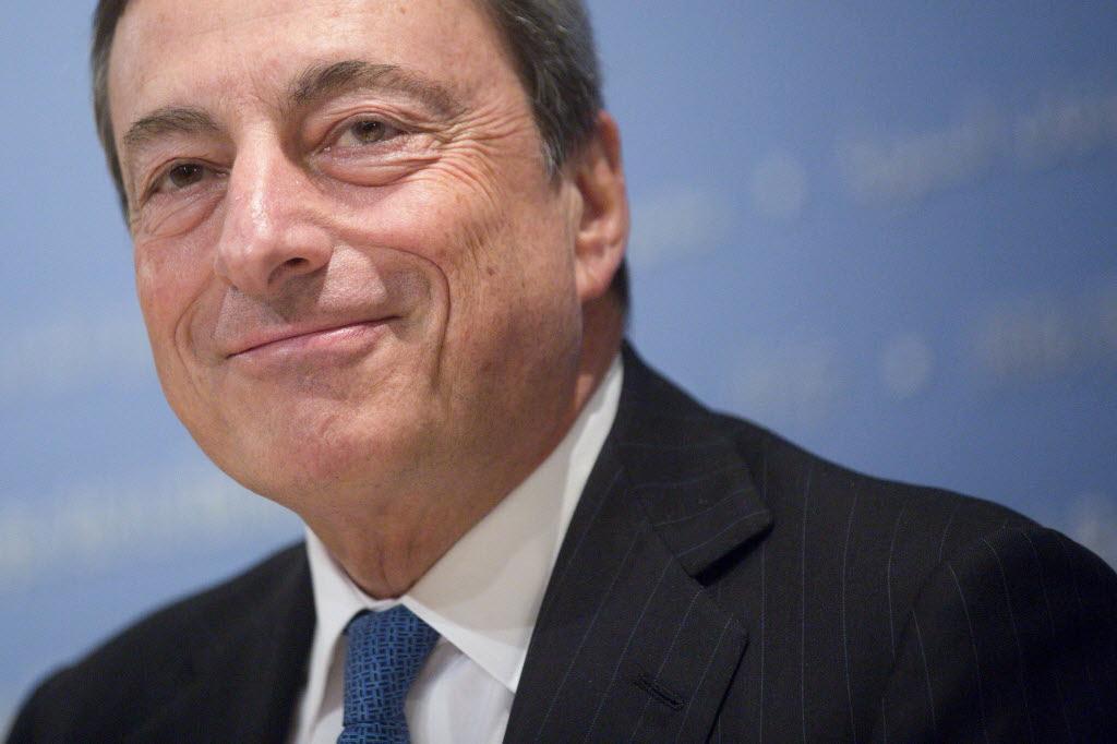 Mario Draghi em Washington em Outubor de 2014. Fonte:  Andrew Harrer, Bloomberg