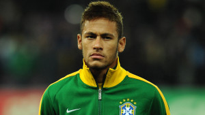 GENEVA, SWITZERLAND - MARCH 21: Neymar JR of Brazil looks on prior to the international friendly match between Italy and Brazil on March 21, 2013 in Geneva, Switzerland. (Photo by Valerio Pennicino/Getty Images)