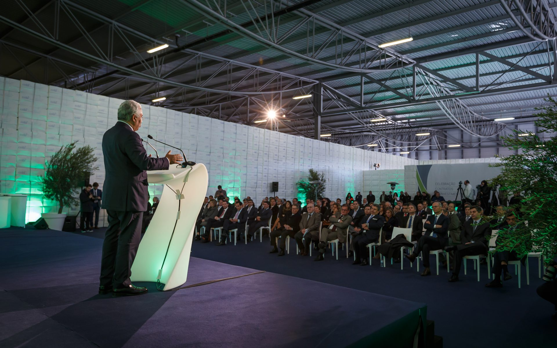 Prime Minister, António Costa, speeching at Celbi