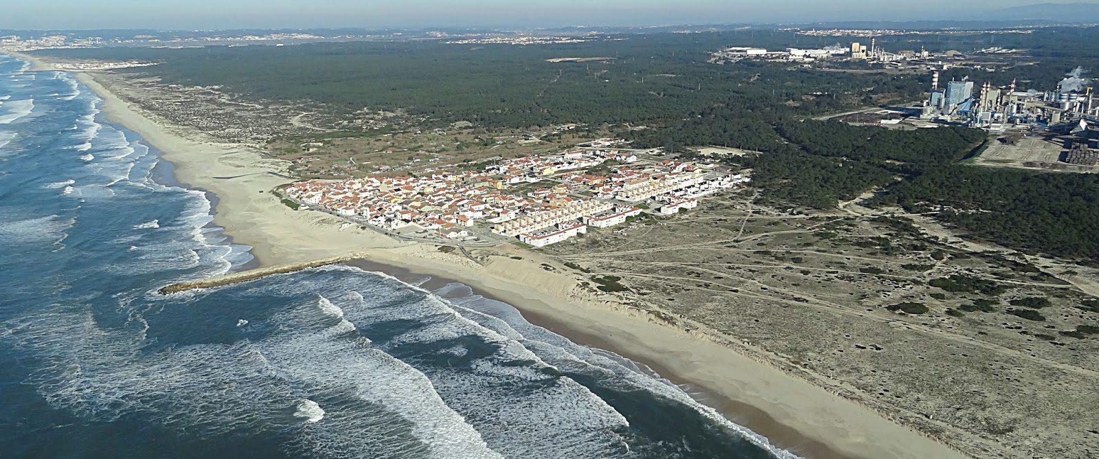 Vista aérea da Praia da Leirosa. Crédito foto: A Terceira Dimensão.