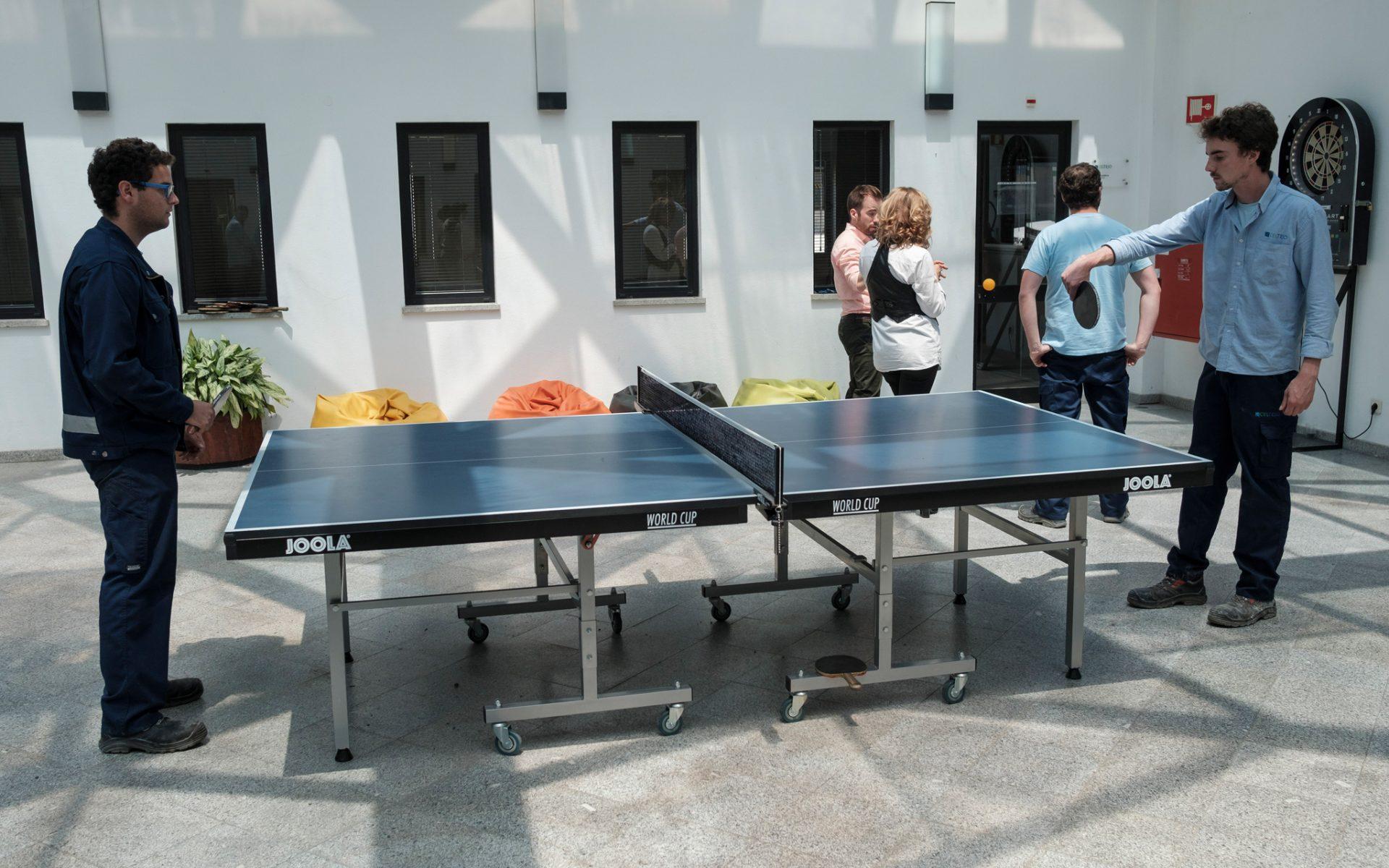 Pingue-pongue, matraquilhos, running e futebol são algumas das modalidades que integram as Olimpíadas Celtejo