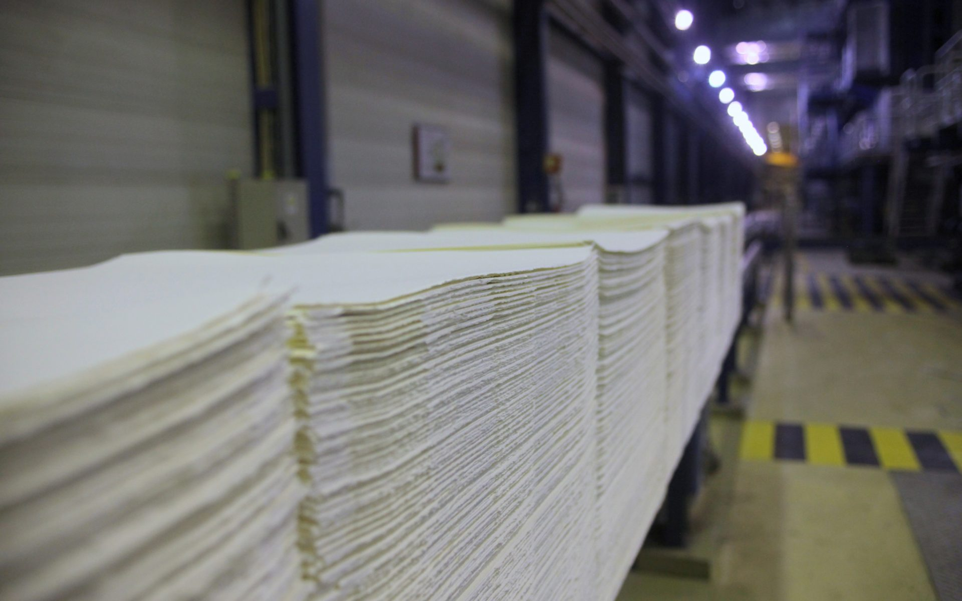 Produção de pasta branqueada de eucalipto