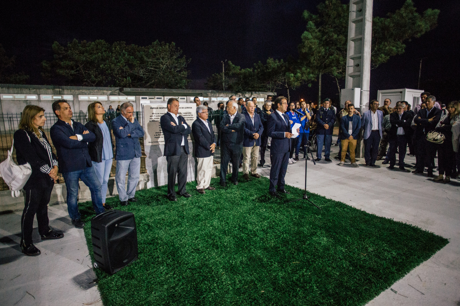 Celbi Administrator speaks at the inauguration of the sports complex of the Praia da Leirosa club