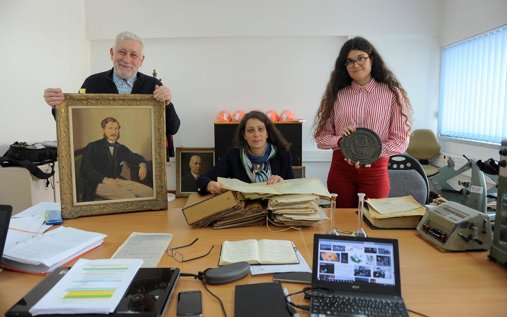 Jorge Custódio, Sofia Costa Macedo e Susana Pacheco, a equipa de arqueólogos industriais que analisaram a história da Caima