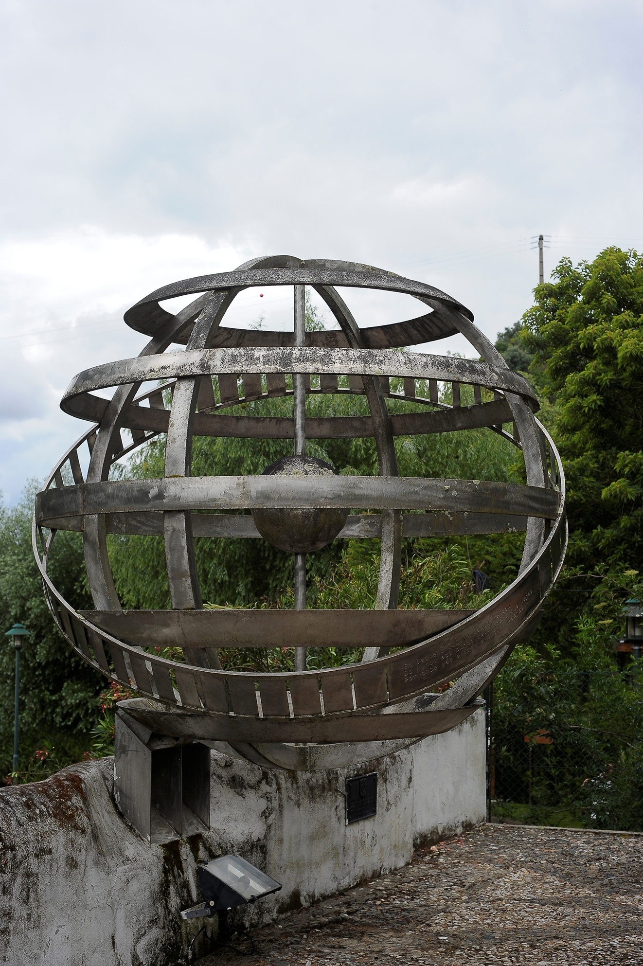 Portugal's largest armillary sphere which weight in at half a tonne, donate by the Faculty of Fine Arts in Lisbon