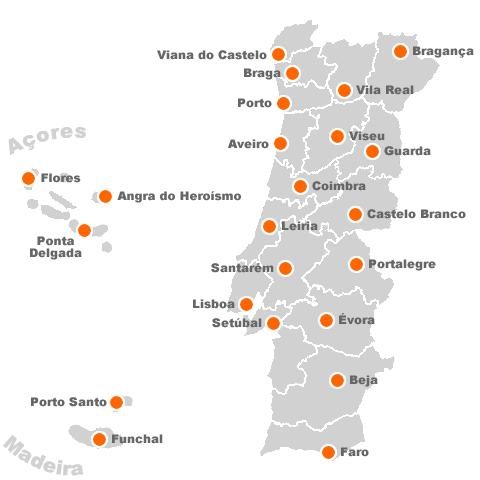 mapa de portugal localidades XL   Informação em grande :: mapa de portugal localidades