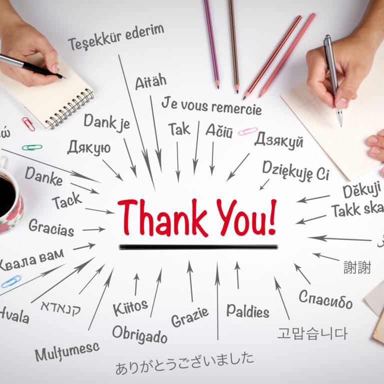 E, hoje, já disse obrigado?