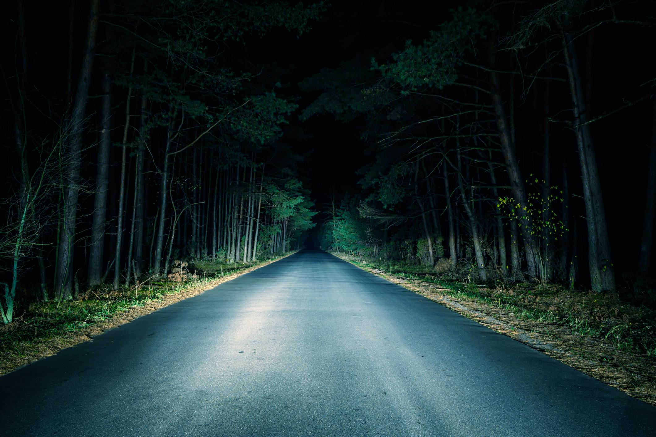 À noite: mais segurança ao volante