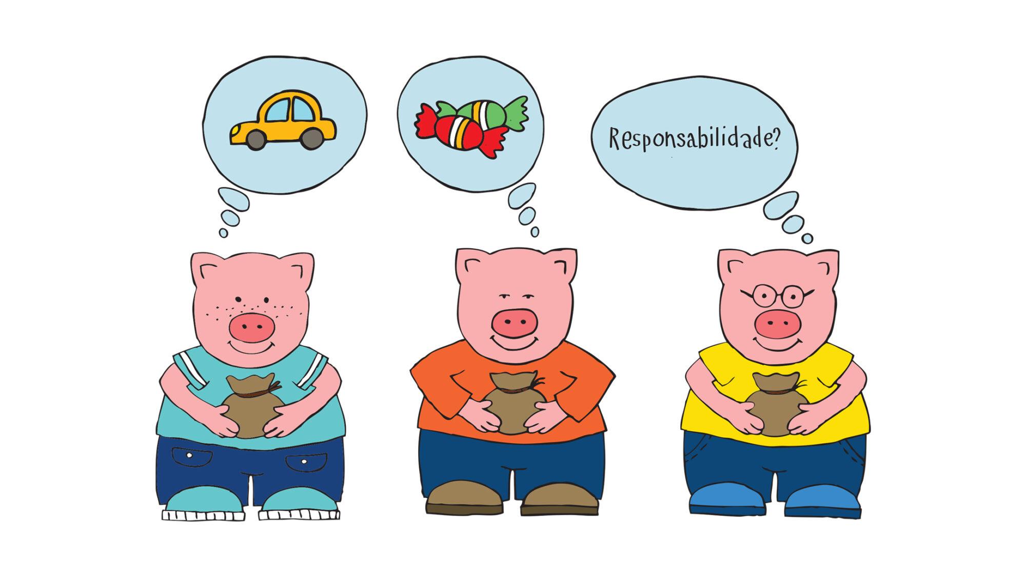 Os 3 Porquinhos e os Dinheiros
