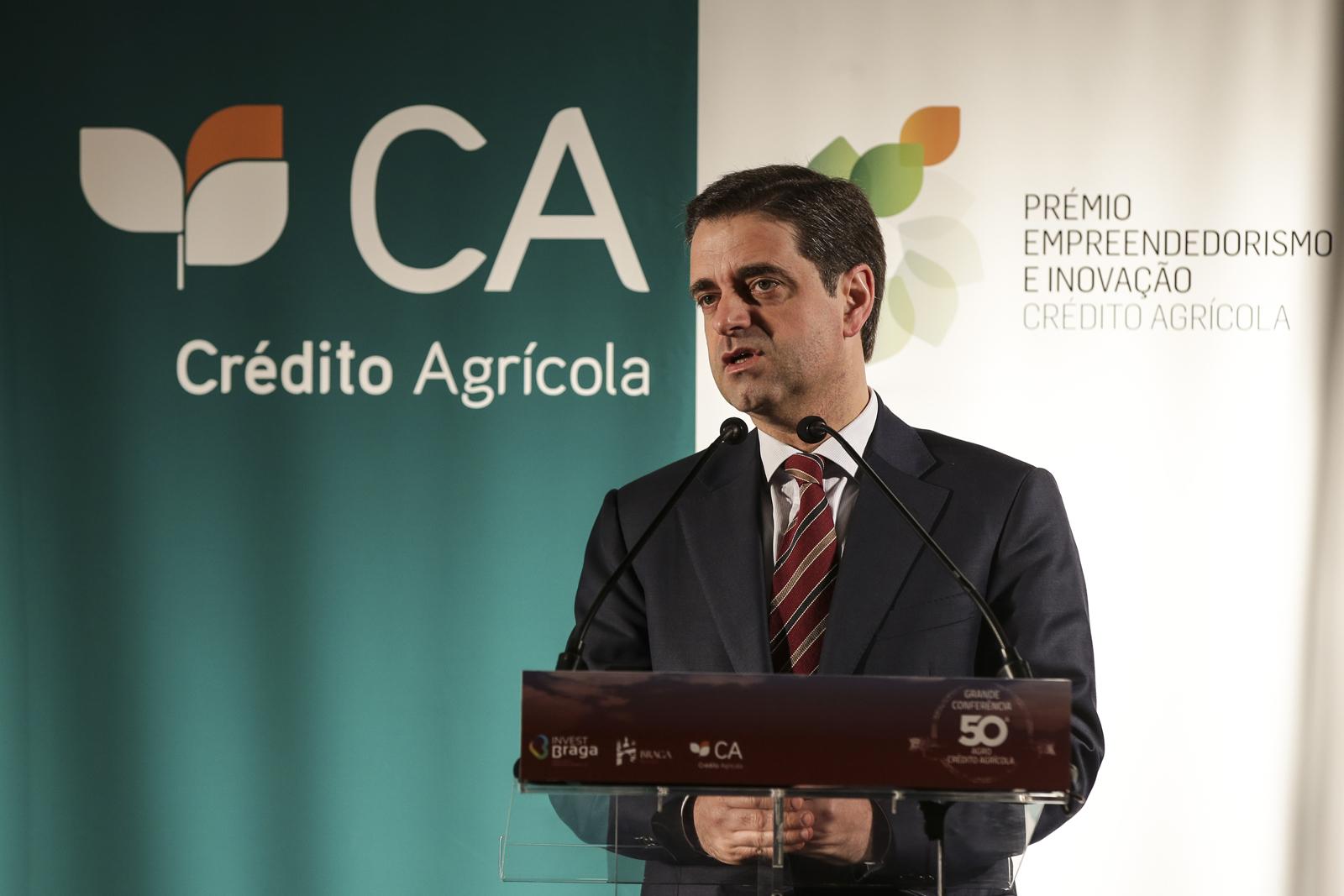 Ricardo Rio, presidente da Câmara de Braga, discursou no encerramento da Grande Conferência 50ª AGRO Crédito Agrícola